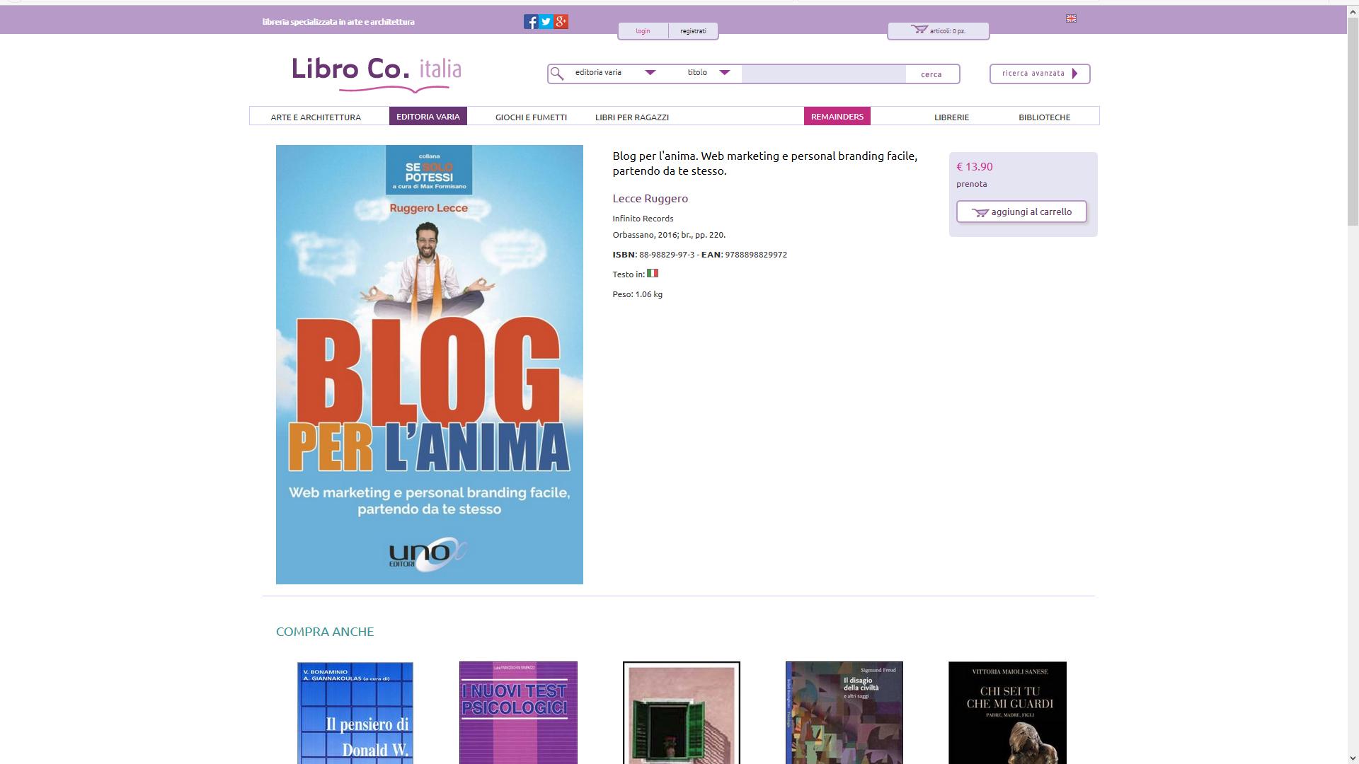 libro co italia blog per l 39 anima libro ruggero lecce